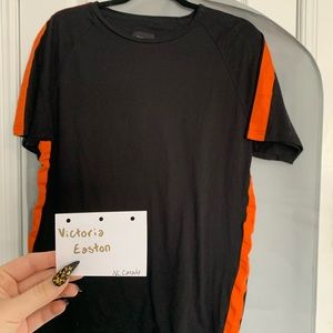 Men's Black & Orange tee shirt